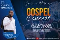 gospel concert flyer Cartaz template