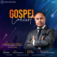 gospel concert flyer Сообщение Instagram template