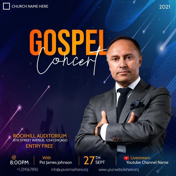 gospel concert flyer Instagram-Beitrag template