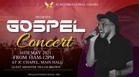 Gospel concert poster Digitale display (16:9) template