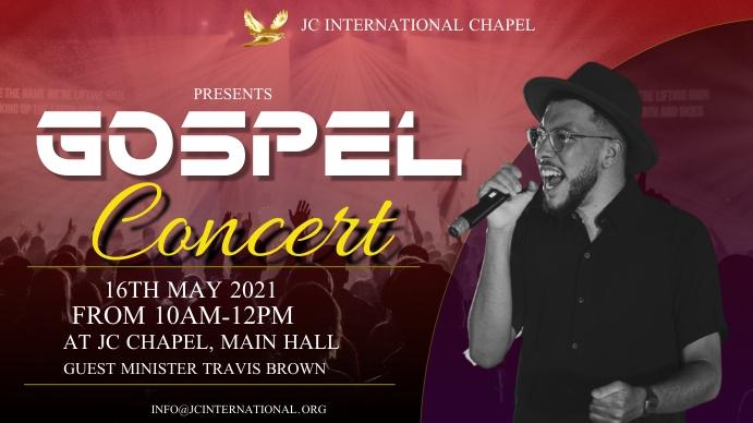 Gospel concert poster Pantalla Digital (16:9) template