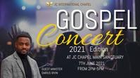 gospel concert poster Digital Display (16:9) template