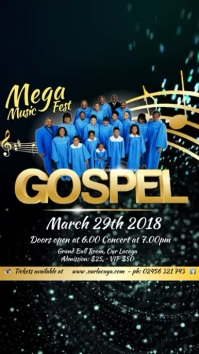 Gospel Concert Template Digitalt display (9:16)
