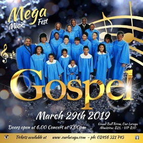 Gospel Concert Template Square (1:1)