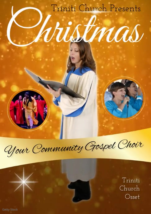 Gospel Concert Video A4 template