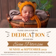 Gospel dedication verse invitation Instagram Post template