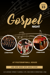 Gospel event Flyer Template Poster
