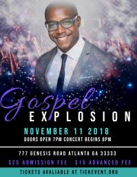 Gospel Explosion Concert Flyer (US Letter) template