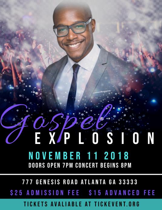 Gospel Explosion Concert Volante (Carta US) template