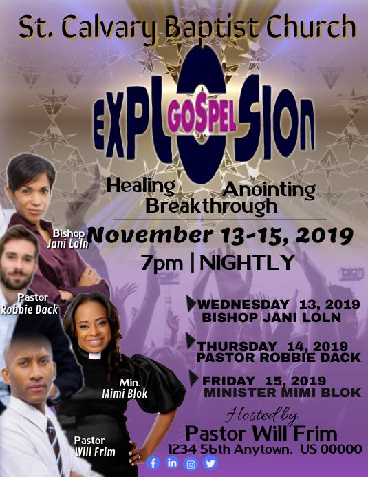 Gospel Explosion Pamflet (Letter AS) template