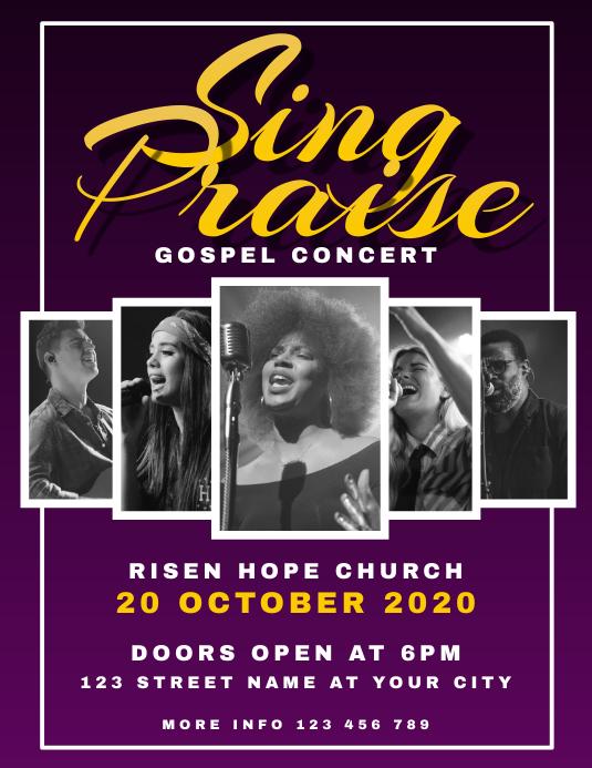 Gospel Flyer Pamflet (Letter AS) template