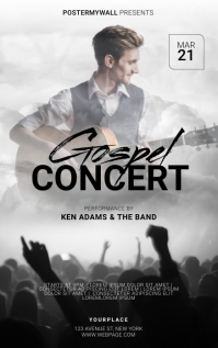 Gospel Flyer Template Sampul Buku