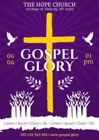 GOSPEL GLORY POSTER A4 template
