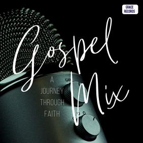 Gospel mix music cd album cover art template