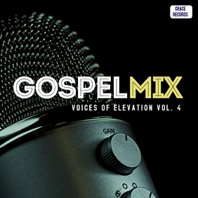 Gospel mix praise music album cover art