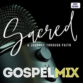Gospel mixtape album cover art template