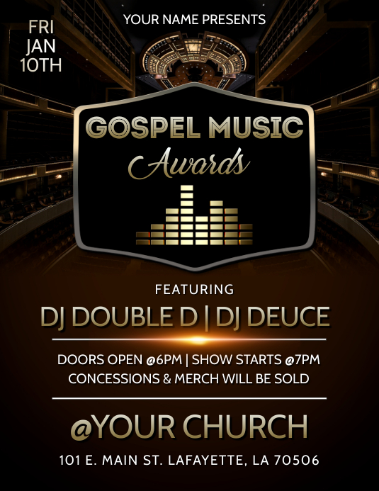 GOSPEL MUSIC AWARDS FLYER TEMPLATE