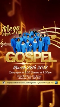 Gospel Music Festival Template Digitalt display (9:16)