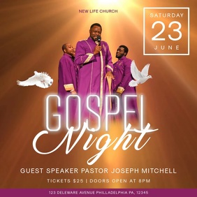Gospel Night Church Event Square Video