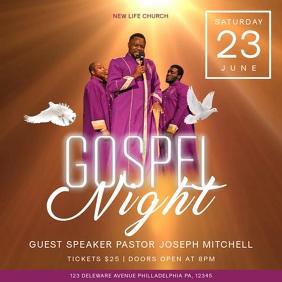 Gospel Night Church Event Square Video