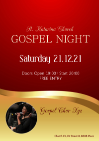 Gospel Night Music Concert Church Conference A4 template