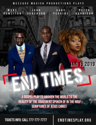 Gospel play (End Times) Flyer (US Letter) template