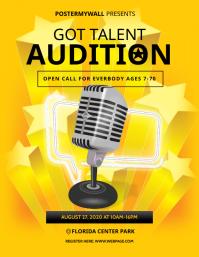 Got Talent Audition Flyer Template ใบปลิว (US Letter)