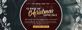 Gothic Christmas Retail Sale Banner