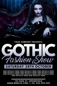 Gothic Fashion Show Poster