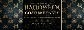 Gothic Halloween Party Invitation Facebook Cover