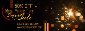 Gothic New Year's Retail Sale Banner