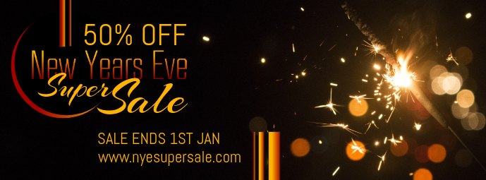 Gothic New Year's Retail Sale Banner Cover na Larawan ng Facebook template