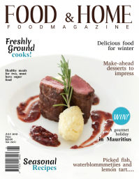 Gourmet Magazine Cover Template