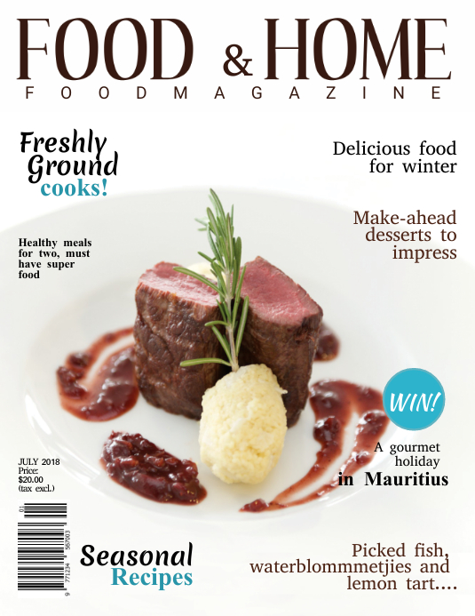 Gourmet Magazine Cover Template Pamflet (Letter AS)