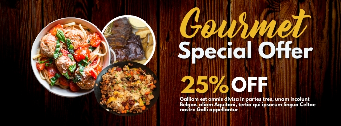 gourmet special offer facebook cover advertis template