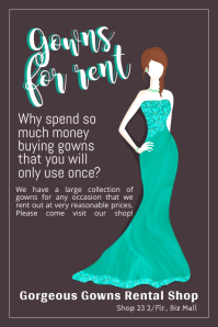 Gowns Rental Shop Template