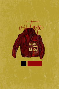 Grace In My Room Poster template