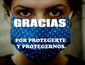 Gracias por protegerte y protegernos volante. Flyer (US Letter) template