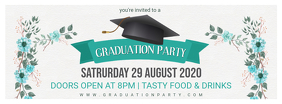 Grad Party Custom Banner Design template