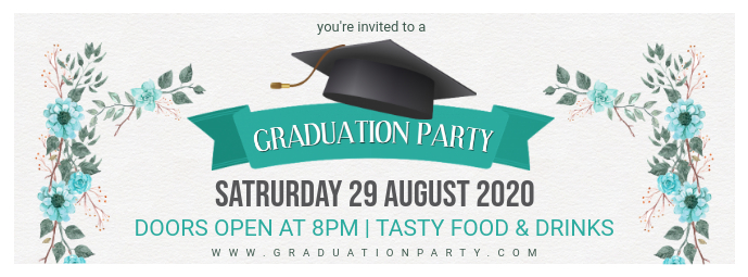 Grad Party Custom Banner Design Ikhava Yesithombe se-Facebook template