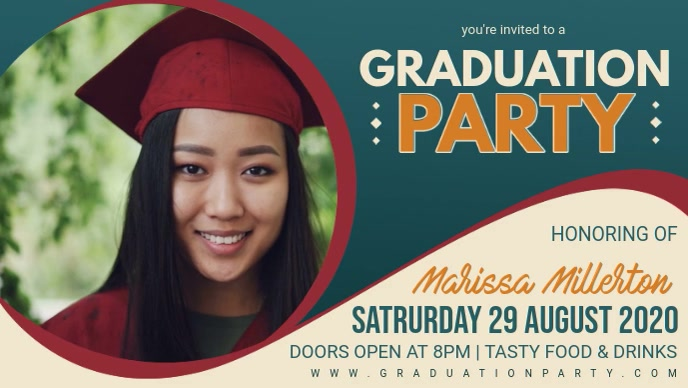 Grad Party Invite Facebook Banner Video
