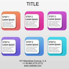 GRADIENT COLORFUL INFOGRAPHIC STEPS