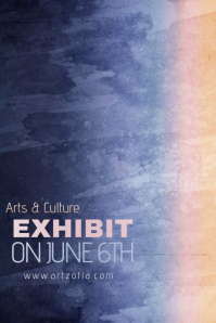 Gradient Paint Simple Modern Event Club Venue Art