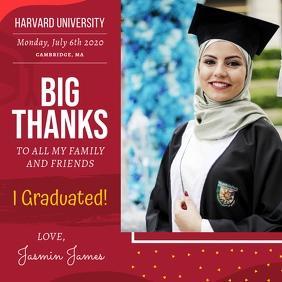 Graduate Appreciation Thank You Card Publicación de Instagram template