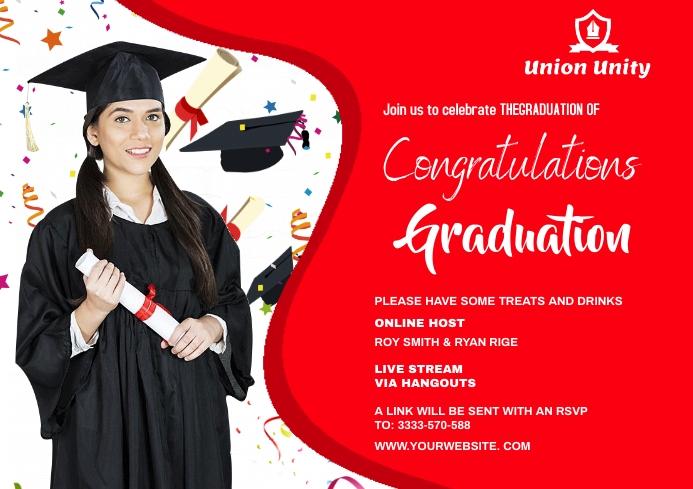 Graduate wish A4 template