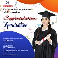 Graduate wish Instagram Post template