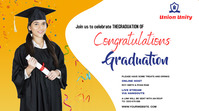 Graduate wish Twitch Banner template