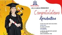 Graduate wish Vídeo de portada de Facebook (16:9) template