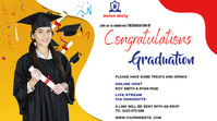 Graduate wish YouTube-Miniaturansicht template