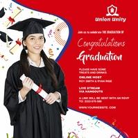 Graduate wish Cuadrado (1:1) template
